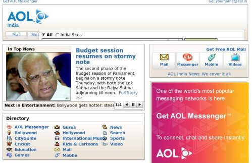AOL India launches its portal