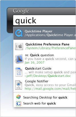 Google Desktop for Mac OS X