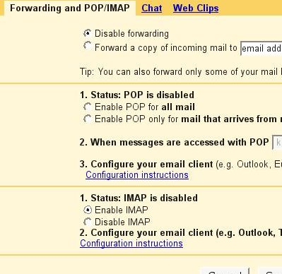 How to: Enable IMAP support in GMAIL