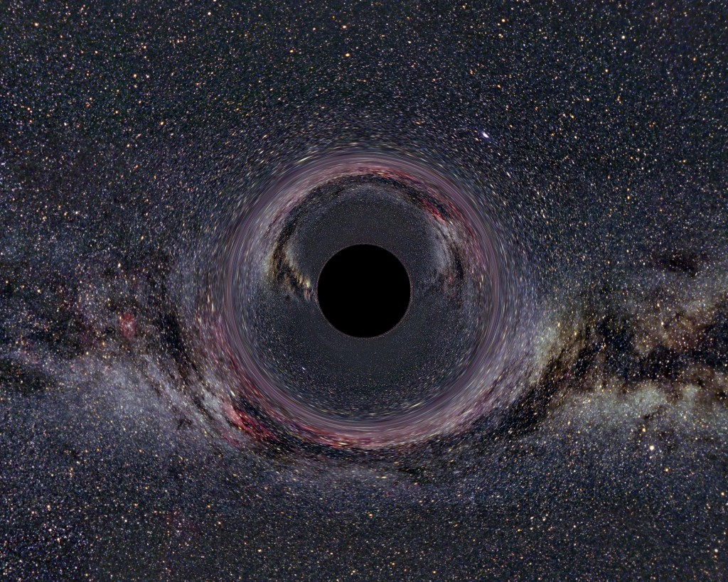 Black hole in front of the Milky Way