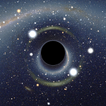 Simulated view of a black hole in front of the Large Magellanic Cloud